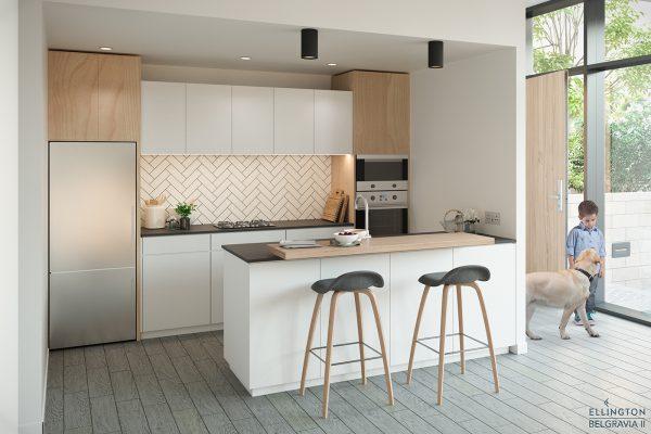 Ellington_Belgravia II_Interior Visual_Townhouse Kitchen