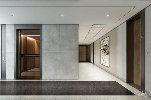 Ellington_DT1_Interior Visual_Public Cooridor