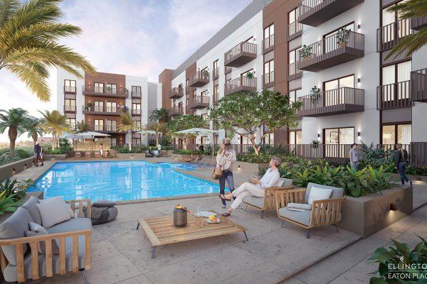Ellington_Eaton Place_Exterior Visual_Courtyard