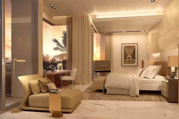Palm Villas_Interior Visuals_Master Bedroom